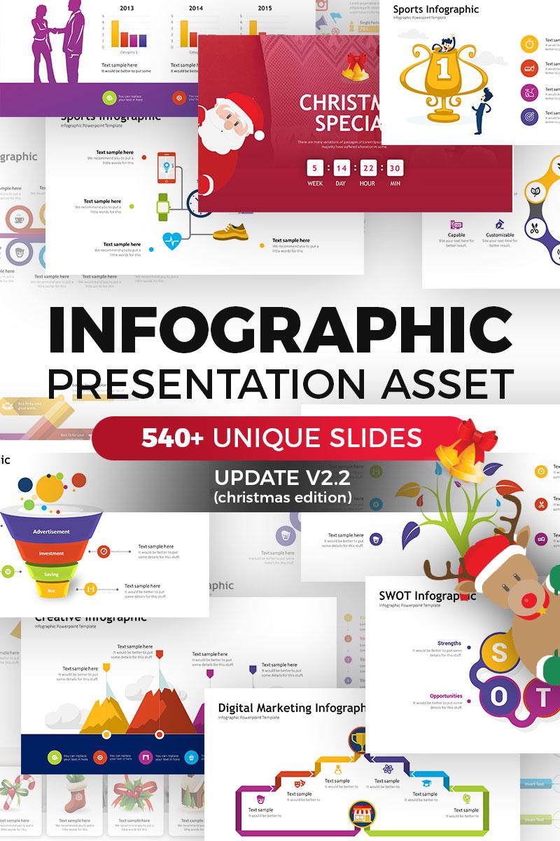 Набор инфографики — PowerPoint шаблон для презентации
