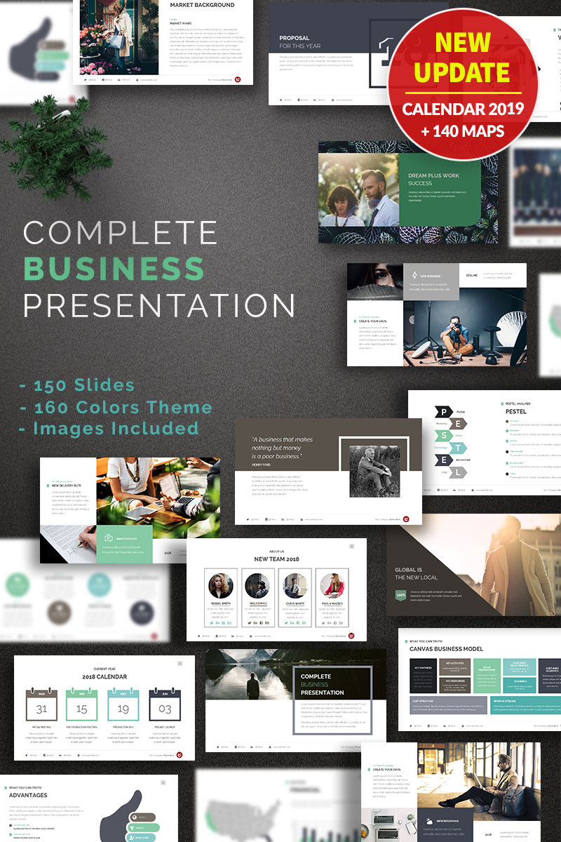 Complete — PowerPoint шаблон бизнес-презентации